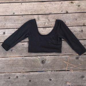 nasty gal black crop top